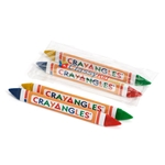 Double-Ended Triangular Crayons, 2pack with 4 Colors - Item 1DET2C(500) Bulk Triangle Best-Cheap Wholesale & Restaurant Crayon Packs