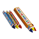 3pack Triangular Crayons, Box Packed - Item 1T3B(750) Bulk Triangle Best-Cheap Wholesale & Restaurant Crayon Packs