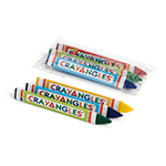 3pack Triangular Crayons, Cello Packed - Item 1T3C(750) Bulk Triangle Best-Cheap Wholesale & Restaurant Crayon Packs