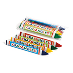 4pack Triangular Crayons, Cello Packed - Item 1T4C(720) Bulk Triangle Best-Cheap Wholesale & Restaurant Crayon Packs