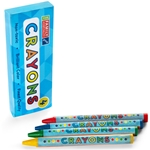 4pack Round Crayons, Boxed - Item 2R4B(200) Bulk Round Best-Cheap Wholesale & Restaurant Crayon Packs