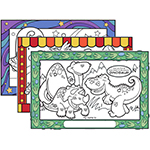 Stick-Down Adhesive-Backed Placemats, 500ct - Item 306CBR Wholesale Printed Restaurant Child-Kids Menus