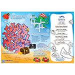 Family Hospitality 310-SEA1 Undersea Theme Paper Placemats - 1000 / CS - Item 310-SEA1(1000) Wholesale Printed Restaurant Child-Kids Menus