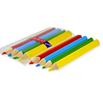 4pack Colored Pencils, Triangular, Cello Packed - Item 4TP4C(250) Bulk Triangle Best-Cheap Wholesale & Restaurant Pencil Packs