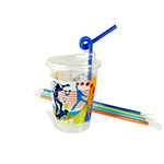12oz Kids Cups, Thermoformed, with Lids and Straws, Active Theme - Item 502ACT Wholesale Restaurant Plastic Child-Kid Cup