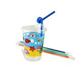 Family Hospitality 502SEA-TF Undersea Theme 12 Oz. Cup Kit - 250 / CS - Item 502SEA Wholesale Restaurant Plastic Child-Kid Cup
