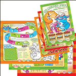 Variety Pack of SMF Activity Books, 7x10, 4pg, 1000ct - Item 701-VAR1 Wholesale Printed Restaurant Child-Kids Menus