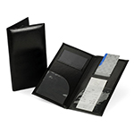 Check Presenter & Bill Folio, Black - Item 8CP3-GN Wholesale Tabletop Restaurant Marketing