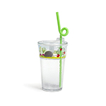 Fun Tough Cup, Washable 12oz Tumbler, Tritan, Design #1, Garden - Item R512D1-T Plastic Kids' Cup, Restaurant/Wholesale