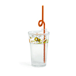 Fun Tough Kids' Cup, Washable 12oz Tumbler, SAN/Acrylic, Design #2, Bees - Item R512D2-A Wholesale Restaurant Plastic
