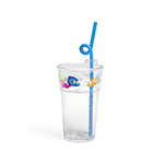 Fun Tough Kids' Cup, Washable 12oz Tumbler, SAN/Acrylic, Design #3, Sea - Item R512D3-A Wholesale Restaurant Washable Plastic
