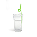 Fun Tough Kids' Cup, Washable 12oz Tumbler, Clear, Tritan, Undecorated - Item R512GN-T Wholesale Restaurant Washable Plastic
